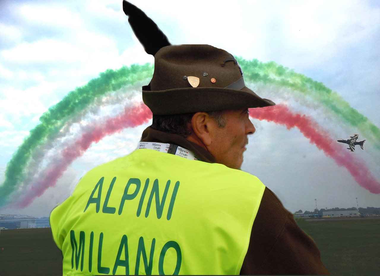 Alpini all'Air Show 2019
